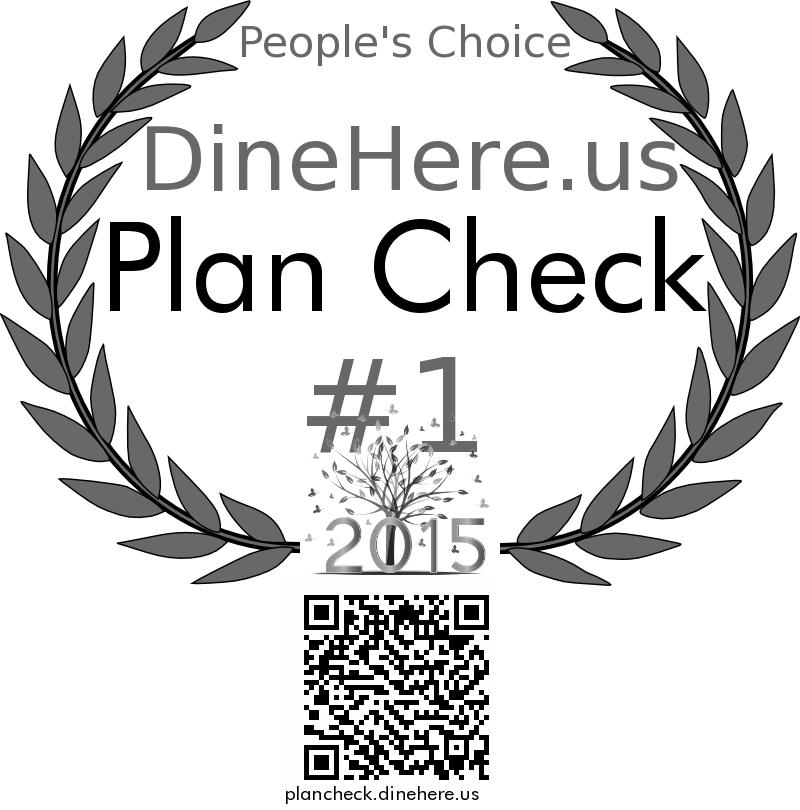 Plan Check DineHere.us 2015 Award Winner